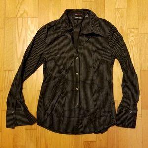 New York Company City Stretch Pinstripe Shirt